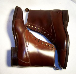 Balmoral Boot in Dark Cognac Shell Cordovan