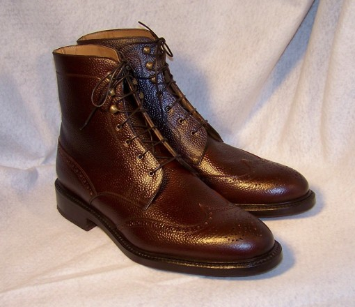 Mahagoni Scotch Grain Shell Cordovan Wingtip Boot