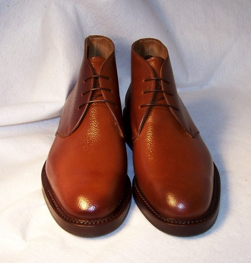 Brandy Scotch Grain Shell Cordovan Chukka