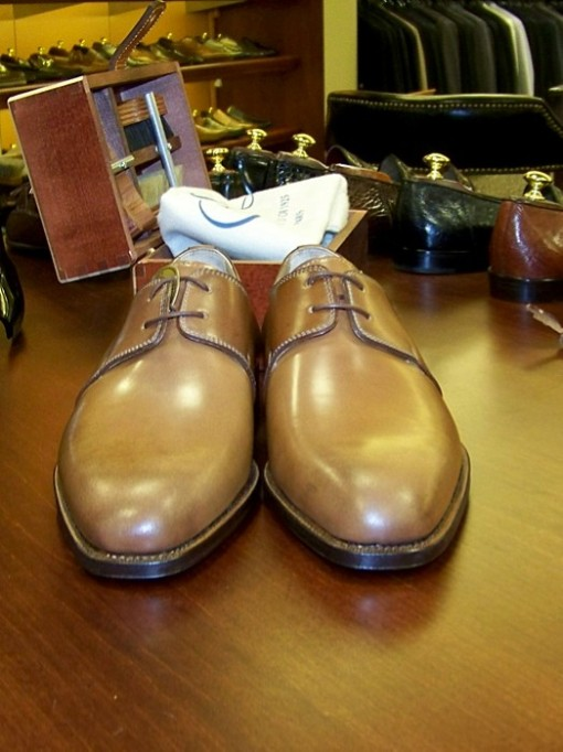 35 last 2-Eyelet Derby in Natural SC